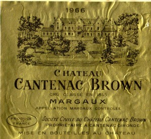 Ch Cantenac Brown 1966