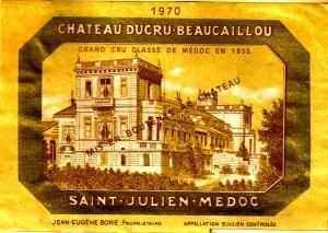 Ch Ducru-Beaucaillou 1970