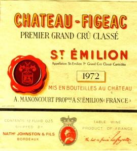 Ch Figeac 1972