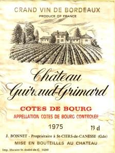 Ch Guiraud-Grimard 1975 Bourg