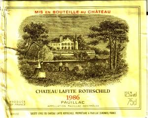 Ch Lafitte-Rothschild 1986