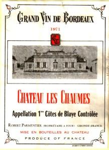 Ch les Chaumes 1971 Blaye