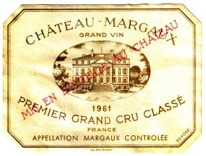 Ch Margaux 1961 Margaux