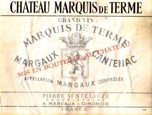Ch Marquis de Terme 1967