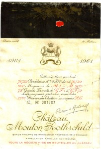 Ch Mouton-Rothschild 1961 Pauillac