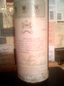 Ch Mouton-Rothschild 1964 New