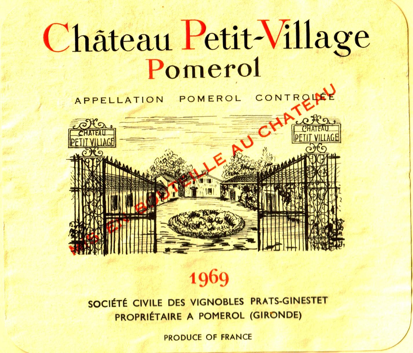 ch petit village 1969 the wine raconteur. Black Bedroom Furniture Sets. Home Design Ideas