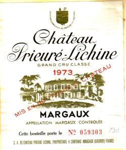 Ch Prieure-Lichine 1973
