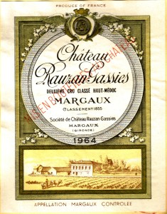 Ch Rauzan-Gassies 1964