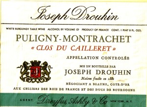 Puligny-Montrachet clos du cailleret