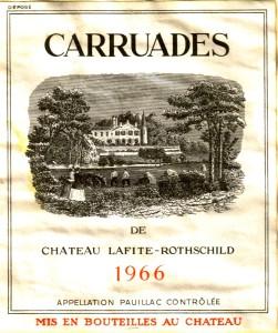Carruades de Ch Lafitte-Rothschild 1966