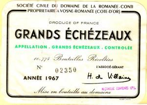 Grands Echezeaux 1967