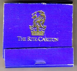 Ritz-Carlton Matchbook