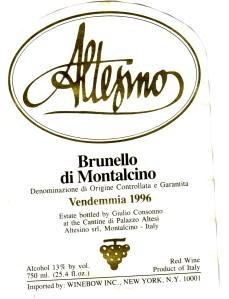Altesino Brunello di Montalcino 1996