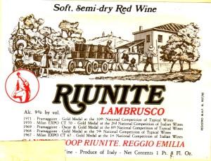 Lambrusco Riunite