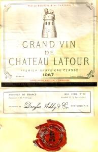 Ch Latour 1967 Pauillac