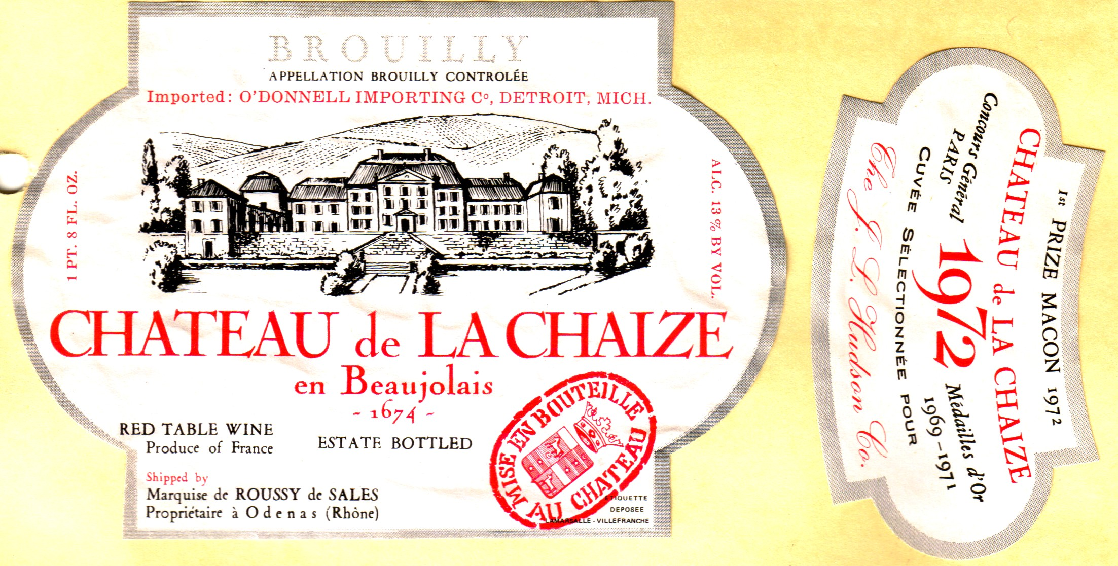 The grand crus of beaujolais the wine raconteur for Brouilly chateau de la chaise