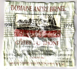 Domaine Andre Brunel CdR 1994