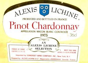 Pinot Chardonnay Macon Blanc Lichine 1975