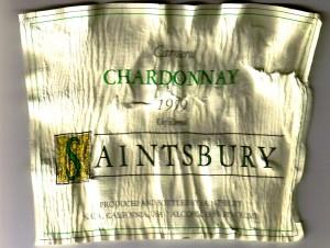 Saintsbury Chardonnay Carneros 1999