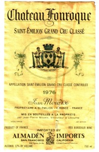 Ch Fonroque Saint-Emilion Grand Cru 1976