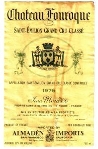 Ch Fonroque Saint-Emilion Grand Cru 1976