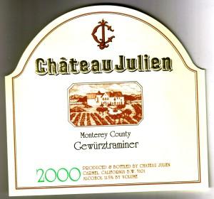 Ch Julien Gewurztraminer Monterey 2000