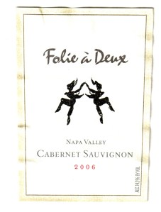 Folie a Deux Cabernet Sauvignon Napa 2006
