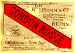 Mumm Cordon Rouge Tres Sec 1937