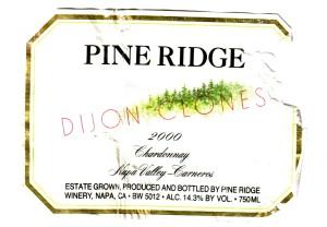 Pine Ridge Dijon Clones Chardonnay 2000