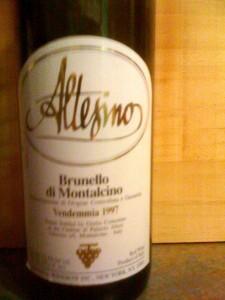 Altesino Brunelllo di Montalcino 1997