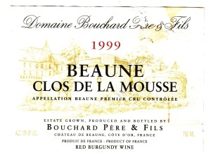 Beaune Clos de la Mousse 1999