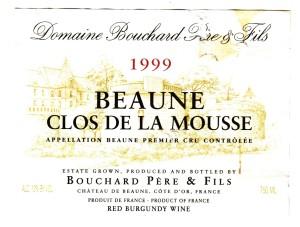 Beaune Clos de la Mousse 1999