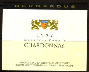 Bernardus Chardonnay Monterey 1997