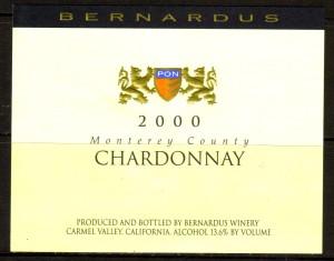 Bernardus Chardonnay Monterey 2000