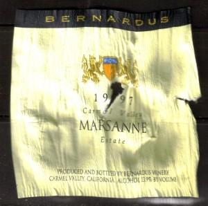 Bernardus Marsanne Carmel 1997