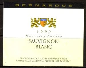 Bernardus Sauvignon Blanc Monterey 1999