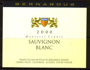 Bernardus Sauvignon Blanc Monterey 2000