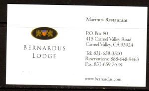 CA Bernardus Lodge-Marinus Restaurant BC