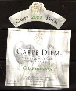 Carpe Diem Chardonnay 2002
