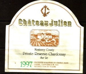 Ch Julien Chardonnay Private Reserve Sur Lie 1997