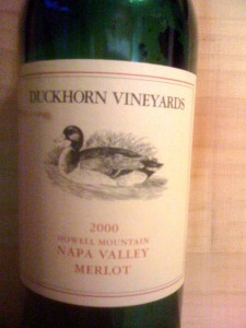 Duckhorn Merlot Howell Mountain Napa 2000