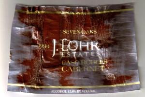 J Lohr Seven Oaks Cabernet Paso Robles