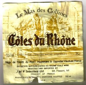 Le Mas des Collines Cotes du Rhone