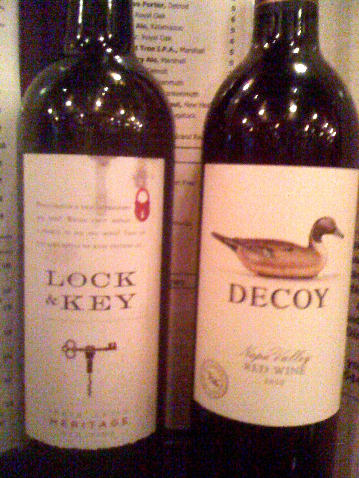 Lock and key wine