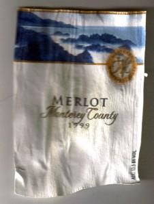 Merlot Monterey County 1999