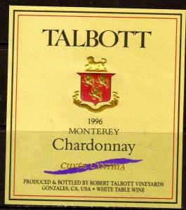 Talbott Chardonnay Cuvee Cynthia Monterey 1996