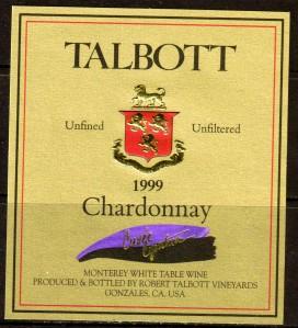 Talbott Chardonnay Cuvee Cynthia Monterey 1999