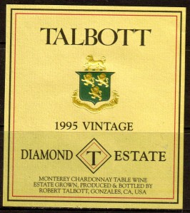 Talbott Chardonnay Diamond T Estate 1995