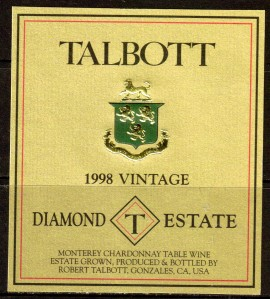 Talbott Chardonnay Diamond T Estate 1998